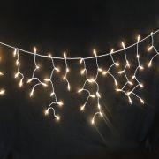 Cascata Luminosa 400 Lâmpadas Branca 110v 7m Fio Branco 1016