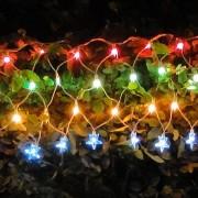 Cascata Luminosa Estrelas Colorido 110v 1011 120 L�mpadas