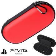 Case Sony PS Vita, PSP 1000, 2000, 3000 Capa Anti-Choque Vermelho CBRN1040