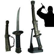 Espada Samurai Katana Ninja 1 pe�a com suporte mesa CBRN02023