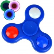 Fidget Hand Spinner Anti Stress com LED AZUL CBRN03877