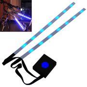 Fita Led Luz Bike bicicleta 31cm Azul Prova de agua + Controle CBRN01828