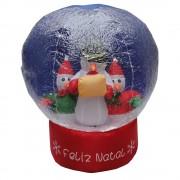 Globo Boneco de Neve Inflável 1,20m Iluminado - 1581