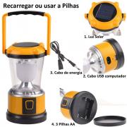 Lanterna Lampião Portátil 5 LEDs WMTDS2757 Amarelo