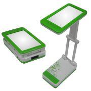 Lumin�ria de Mesa Articulada com Espelho 15 Leds  DS 1796 Verde