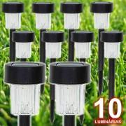 Lumin�ria Solar Jardim 10 pe�as em PVC EC23201 - 1387