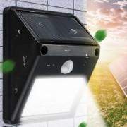 Luminaria Solar Parede 4 Leds c/ Sensor Movimento CBRN03990