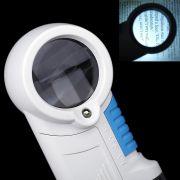 Lupa de M�o Com Luz 2 Leds com lanterna amplica��o 12X CBRN01606