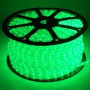 Mangueira Luminosa LED Verde Corda Natal Pisca Rolo 100mt 110v - 1094