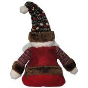 Papai Noel de Luxo em Pelúcia com 45cm de Altura CBRN0401 CD0077