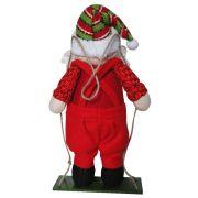 Papai Noel de Pelúcia no Balanço com 35cm de Altura CBRN0289 CD0035