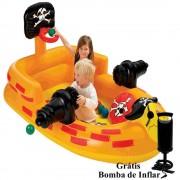Piscina Infl�vel Infantil Barco Canh�o Pirata Intex 48663 + Bomba Inflar - 182cm x 114cm x 86cm