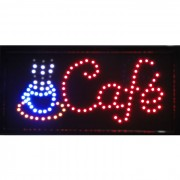 Placa Led Quadro Letreiro Luminoso Decorativo Caf� 1610