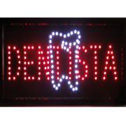 Placa Led Quadro Letreiro Luminoso Decorativo Dentista 1619