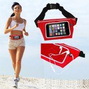 Pochete cinto porta celular fitness Corrida até 5.5 Pol Impermeável VERMELHO CBRN02061
