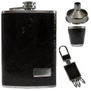 Porta Whisky Garrafa de Aço Portátil Cantil 9 OZ-270ml-DSI - 1873
