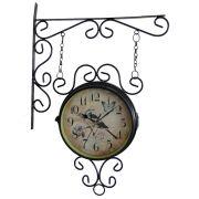 Relógio de Parede Estação de Trem Vintage Dupla Face Retro CBRN01354