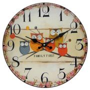 Relógio de Parede Retro Rústico Vintage Retro CORUJAS CBRN01903
