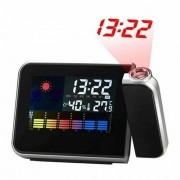 Relogio projetor de horas digital com termometro alarme CBRN02757