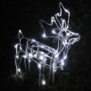 Rena Iluminada de natal Filhote 50 Leds Movimento 127v GL24LDMS-1 - Decora��o Natal
