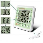 Term�metro Higr�metro Rel�gio Digital Despertador CBR1064 KT204 Pilha