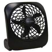 Ventilador Port�til De Mesa O2 Cool Pilhas Ou Fonte 3v 2283 PRETO