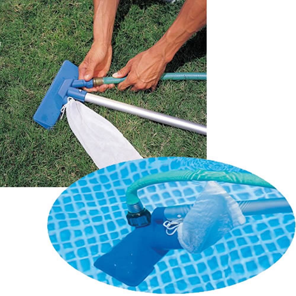 Kit manuten o p piscina aspirador e peneira intex 58958 for Kit de piscina