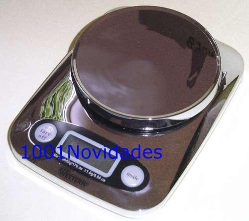 Balança Digital para Cozinha Cromada 5Kg Western KC-01
