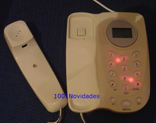 Telefone com Bina Identificador de Chamadas Branco Maxtel KXT-5006CID