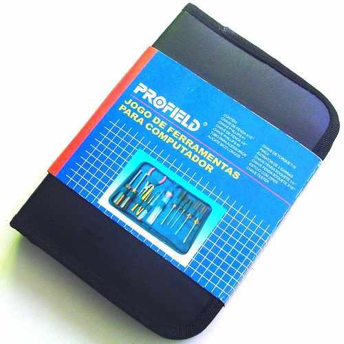 Kit de Ferramentas para Manutenção de Computador Conjunto com 13 Peças Chaves de Fenda e Philips, Alicate e Outros - Profield
