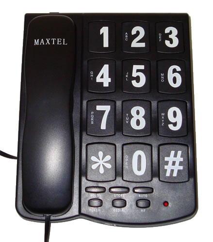 Telefone com Teclas Gigantes - Viva Voz - Maxtel - MT-208