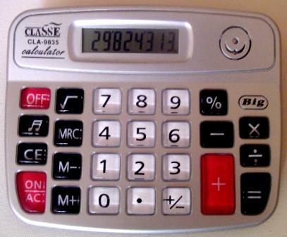 Calculadora de Mesa a Pilha - 8 Dígitos - Classe - CLA-9835