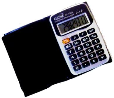 Calculadora de Bolso a Bateria - 8 Dígitos - Classe - CLA-323