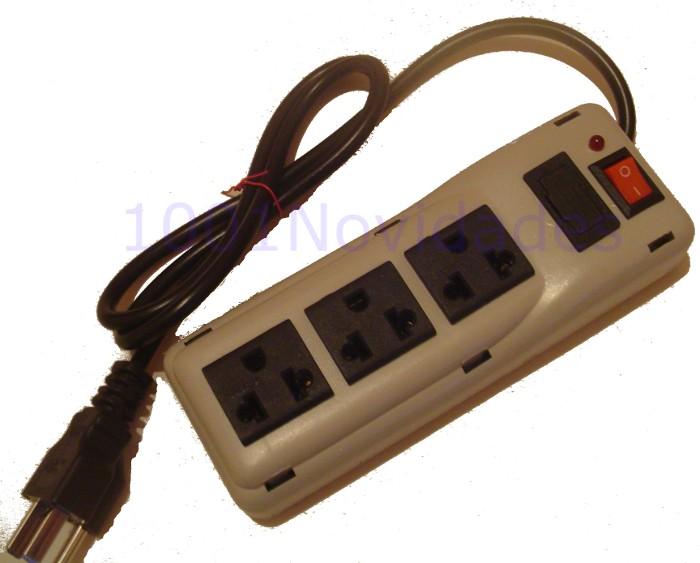 Filtro de Linha - 3 Tomadas - Com Fusível de Proteção Chave Liga/Desliga e Lâmpada Piloto - Maxtel