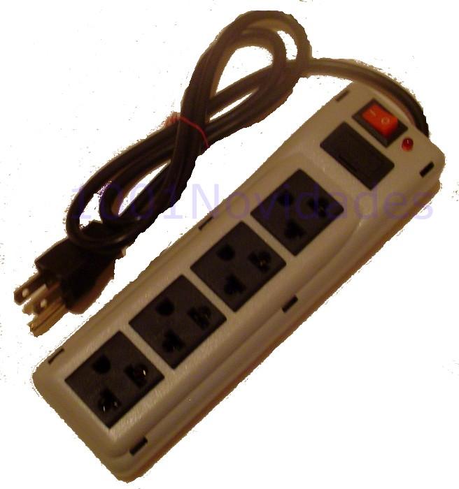 Filtro de Linha - 4 Tomadas - Com Fusível de Proteção Chave Liga/Desliga e Lâmpada Piloto - Maxtel