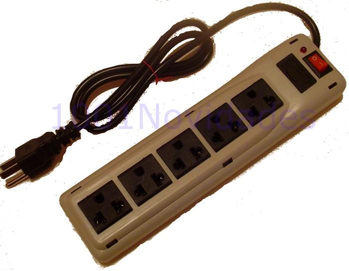 Filtro de Linha - 5 Tomadas - Com Fusível de Proteção Chave Liga/Desliga e Lâmpada Piloto - Maxtel