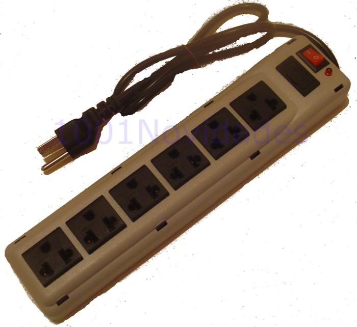 Filtro de Linha - 6 Tomadas - Com Fusível de Proteção Chave Liga/Desliga e Lâmpada Piloto - Maxtel