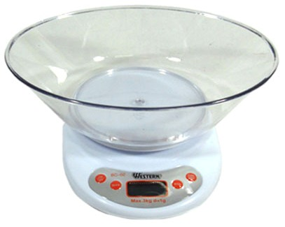 Balança Digital para Cozinha - Pesa até 3Kg - Western - BC-02