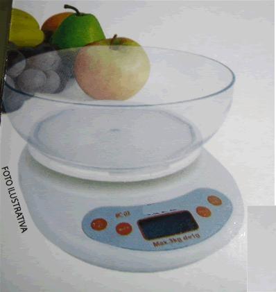Balança Digital para Cozinha - Pesa até 3Kg - Western - BC-03