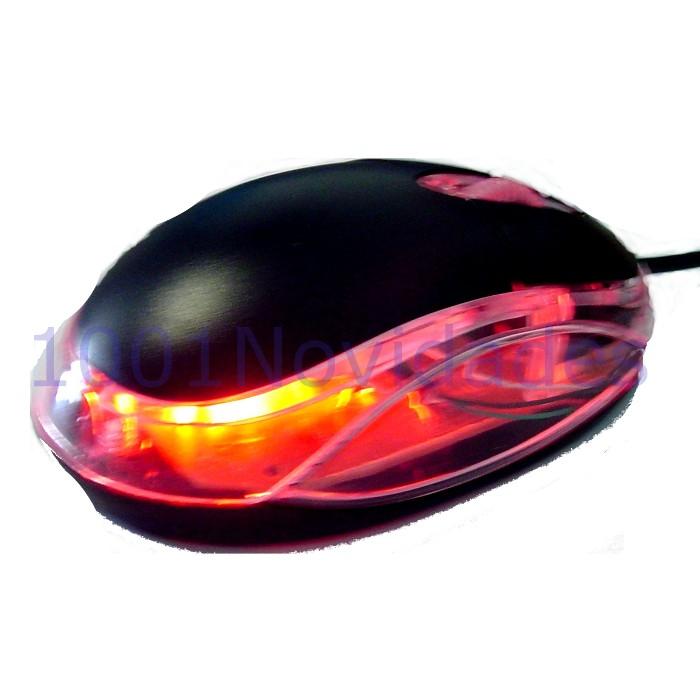 Mouse Optico com Fio - Corpo Transparente - Maxtel