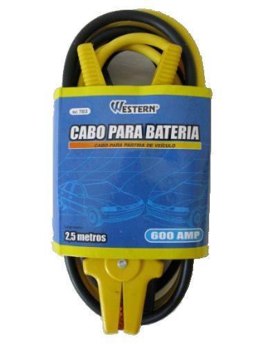 Cabo para Bateria com Garras Chupeta 2,5m 600A Western 783