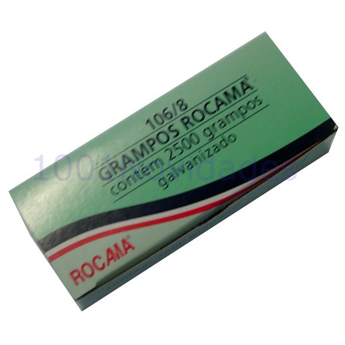 Grampo Galvanizado para Grampeador de Tapeceiro 2500 Grampos - Rocama - 106/8