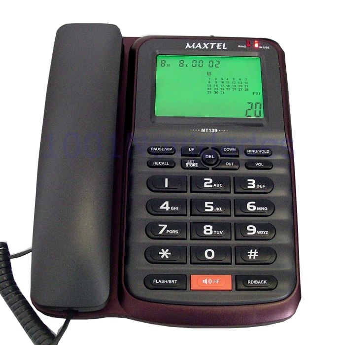 Telefone com Bina Identificador de Chamadas - Viva Voz - Maxtel - MT-139