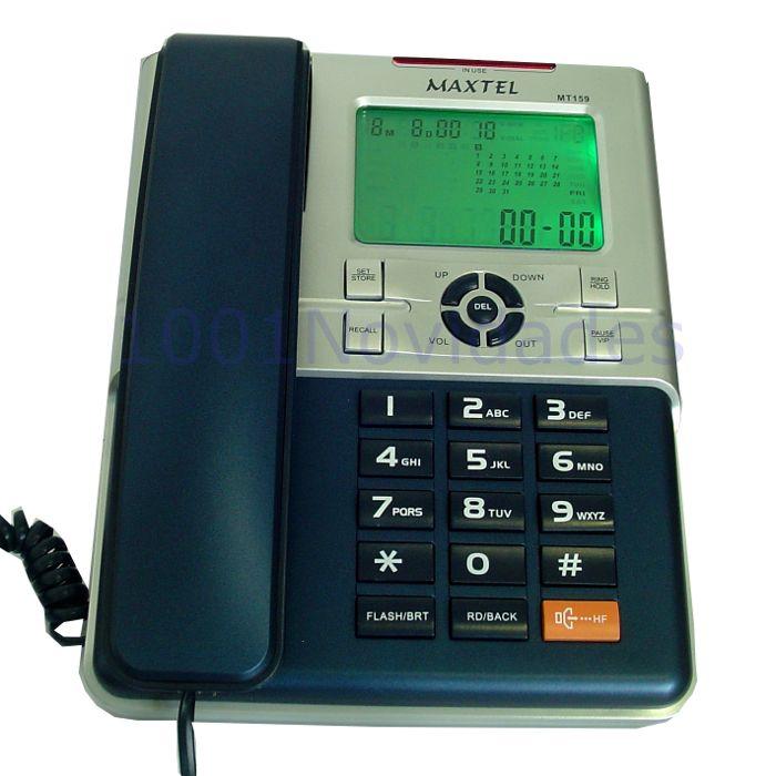 Telefone com Bina Identificador de Chamadas - Viva Voz - Maxtel - MT-159