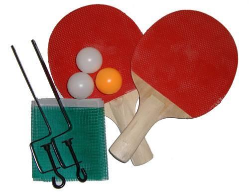 Jogo de Ping Pong com 2 Raquetes Revestidas 3 Bolinhas 1 Rede e Fixadores para Rede