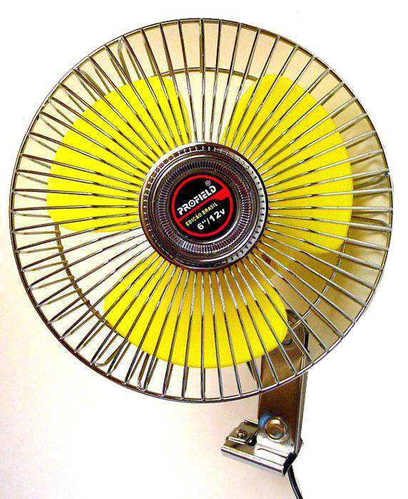 Ventilador para Carro, Caminhão ou Barco - 15cm (6´ Polegadas) - 12V para ser ligado no acendedor - Profield - 01701060