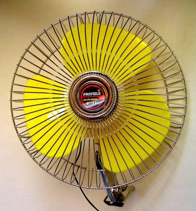Ventilador para Carro, Caminhão ou Barco - 20cm (8´ Polegadas) - 12V para ser ligado no acendedor - Profield - 01701080