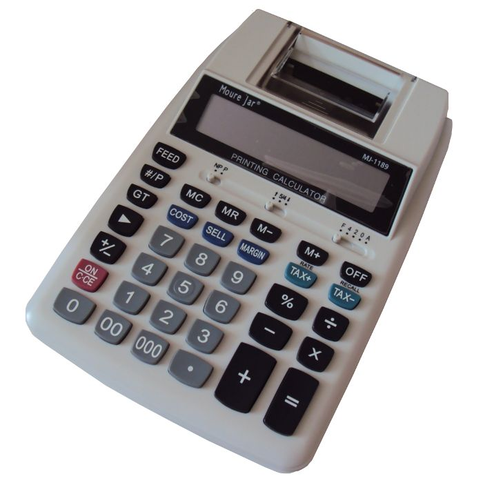 Calculadora de Mesa Display de 12 Dígitos com Impressão em Bobina - Moure Jar - MJ-1189