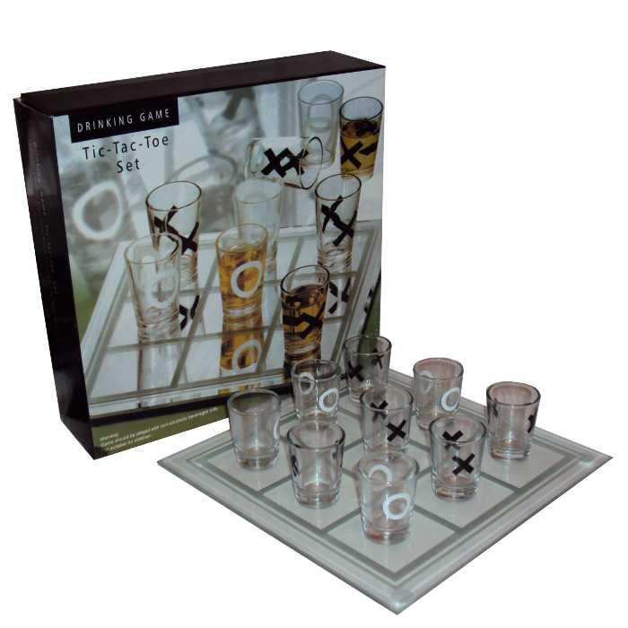 Jogo da Velha com Copos de Bebida Shot 20x20cm XO-02