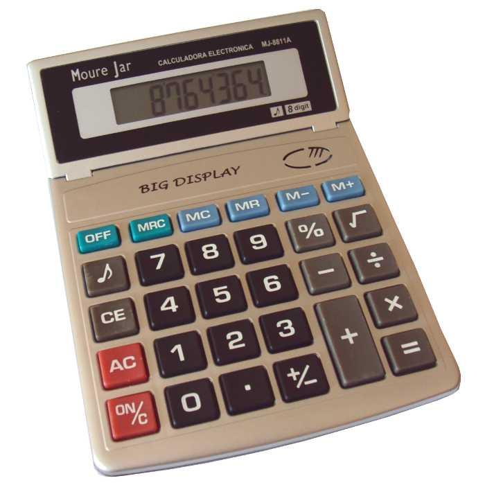 Calculadora de Mesa a Pilha - 8 Dígitos - Moure Jar - MJ-8811A